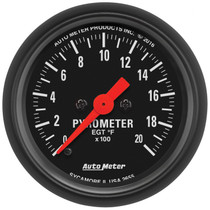 "AUTOMETER 2655 2-1/16"" PYROMETER, 0-2000 °F, STEPPER MOTOR, Z-SERIES"