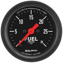 "AUTOMETER 2660 2-1/16"" FUEL PRESSURE, 0-30 PSI, STEPPER MOTOR, Z-SERIES"