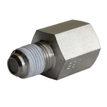 """AUTOMETER 3279 FITTING, SNUBBER ADAPTER, 1/8"""" NPT MALE TO 1/8"""" NPT FEMALE, STEEL, FOR FUEL PRESSURE"""
