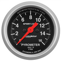 "AUTOMETER 3344 2-1/16"" PYROMETER, 0-1600 °F, STEPPER MOTOR, SPORT-COMP"