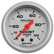 "AUTOMETER 4306 2-1/16"" BOOST, 0-100 PSI, MECHANICAL, ULTRA-LITE UNIVERSAL"