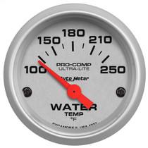 "AUTOMETER 4337 2-1/16"" WATER TEMPERATURE, 100-250 °F, AIR-CORE, ULTRA-LITE UNIVERSAL"