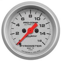 "AUTOMETER 4344 2-1/16"" PYROMETER, 0-1600 °F, STEPPER MOTOR, ULTRA-LITE UNIVERSAL"