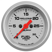 "AUTOMETER 4360 2-1/16"" FUEL PRESSURE, 0-30 PSI, STEPPER MOTOR, ULTRA-LITE UNIVERSAL"