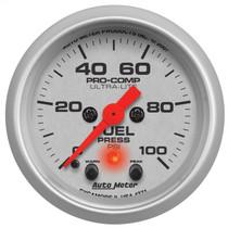 "AUTOMETER 4371 2-1/16"" FUEL PRESSURE, 0-100 PSI, STEPPER MOTOR, ULTRA-LITE UNIVERSAL"