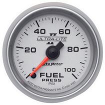 "AUTOMETER 4963 2-1/16"" FUEL PRESSURE, 0-100 PSI, STEPPER MOTOR, ULTRA-LITE II UNIVERSAL"