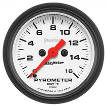 "AUTOMETER 5744 2-1/16"" PYROMETER, 0-1600 °F, STEPPER MOTOR, PHANTOM UNIVERSAL"