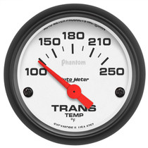 "AUTOMETER 5757 2-1/16"" TRANSMISSION TEMPERATURE, 100-250 °F, AIR-CORE, PHANTOM UNIVERSAL"