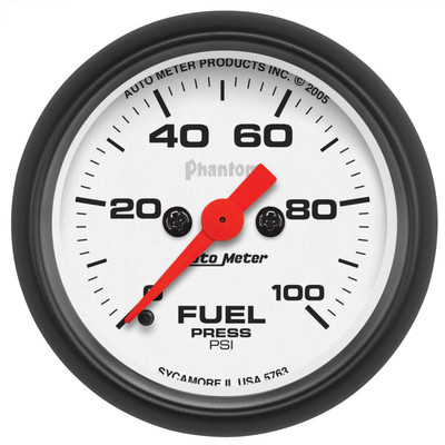 "AUTOMETER 5763 2-1/16"" FUEL PRESSURE, 0-100 PSI, STEPPER MOTOR, PHANTOM UNIVERSAL"