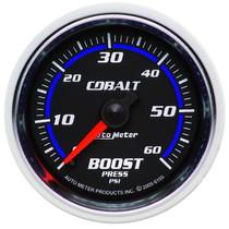 "AUTOMETER 6105 2-1/16"" BOOST, 0-60 PSI, MECHANICAL, COBALT UNIVERSAL"