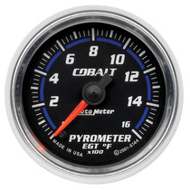 "AUTOMETER 6144 2-1/16"" PYROMETER, 0-1600 °F, STEPPER MOTOR, COBALT UNIVERSAL"