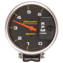 AUTOMETER 6806 5in.TACHOMETER; 0-6;000 RPM DIESEL; PEDESTAL W/PEAK MEMORY; PRO-COMP