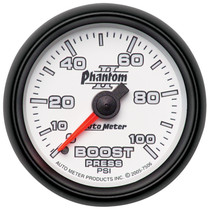 AUTOMETER 7506 2-1/16in. BOOST; 0-100 PSI; PHANTOM II