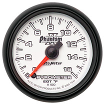 "AUTOMETER 7544 2-1/16"" PYROMETER, 0-1600 °F, STEPPER MOTOR, PHANTOM II UNIVERSAL"
