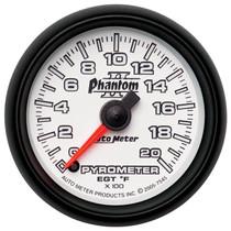 "AUTOMETER 7545 UNIVERSAL 2-1/16"" PYROMETER, 0-2000 °F, STEPPER MOTOR, PHANTOM II"