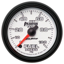 "AUTOMETER 7563 2-1/16"" FUEL PRESSURE, 0-100 PSI, STEPPER MOTOR, PHANTOM II"