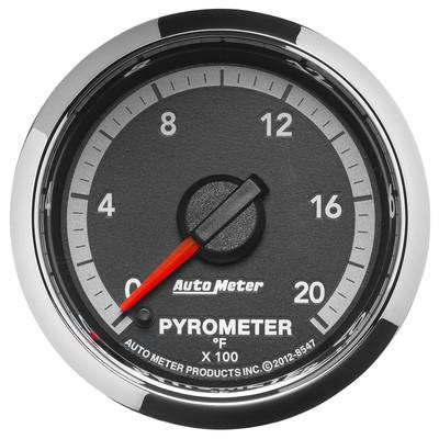 "AUTOMETER 8547 2-1/16"" PYROMETER, 0-2000 °F, STEPPER MOTOR, GEN 4 DODGE FACTORY MATCH"