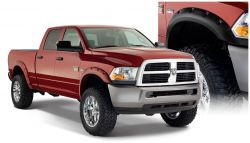BUSHWACKER 50919-02 FENDER FLARES POCKET STYLE 4PC 2010-2018 DODGE RAM 2500/3500 76.3/98.3IN BED BLACK
