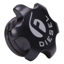 FLEECE PERFORMANCE FPE-FC-1316-BLK Black Anodized Billet Fuel Cap For 2013-2018 Cummins