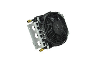 DERALE 13700 16 PASS ELECTRA-COOL REMOTE COOLER, -6AN INLETS