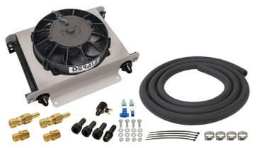 DERALE 15960 25 ROW HYPER-COOL REMOTE TRANSMISSION COOLER KIT, -8AN