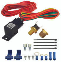 DERALE 16720 180°F FAN SWITCH THERMOSTAT RELAY KIT 1/8 IN AND 3/8 IN NPT