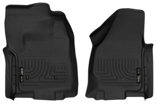 HUSKY LINERS 52761 12-16 Ford F-250/F-350/F-450 Super Duty Front Floor Liners Black  Liners
