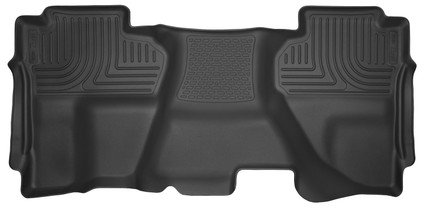 HUSKY LINERS 53911 14-18 Silverado/Seirra 1500/2500 HD/3500 HD Double Cab 2nd Seat Floor Liner Full Coverage Black  Liners