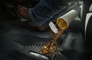 HUSKY LINERS 53220 14-18 Silverado/Seirra 1500/2500 HD/3500 HD Double Cab 2nd Seat Floor Liner Cocoa  Liners