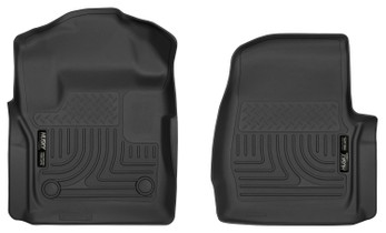 HUSKY LINERS 52721 17-18 Ford F-250/F-350 Super Duty Front Floor Liners Black X-ACT Contour Series  Liners