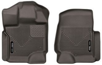 HUSKY LINERS 53360 17-18 Ford F-250 Super Duty/F-350/F-450 Super Duty Front Floor Liners Cocoa  Liners