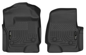 HUSKY LINERS 52731 17-18 Ford F-250/F-350/F-450 Super Duty Front Floor Liners Black  Liners