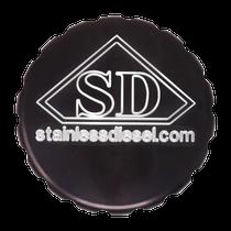 D&J PRECISION MACHINE Anodized Billet Stainless Diesel Oil Cap Cover