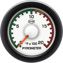 ISSPRO R14031 EV2 Black Bezel  Red Pointer W/White Hub  White Face  Black Numerals Green When Backlit (Dodge) Pyrometer 0-2000F