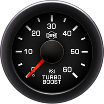 ISSPRO R17233 EV2 Black Bezel  Red Pointer W/Black Hub  Black Face  White Numerals Green When Backlit (Ford) Turbo Boost 0-60Psi