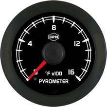 ISSPRO R18022 EV  PYRO NO-COLOR 0-1600 BLK FACE RED PTR  (GM MATCH)