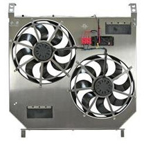 FLEX-A-LITE 116545 DIRECT-FIT DUAL ELECTRIC FANS W/ VARIABLE CONTROLLER 2003-2007 FORD 6.0L POWERSTROKE