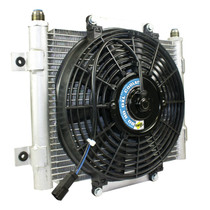 BD DIESEL 1300611 Xtrude Transmission Cooler with Fan -10 JIC Male Connection