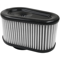 S&B FILTERS KF-1064D AIR FILTER FOR INTAKE KITS 75-5086,75-5088,75-5089 DRY EXTENDABLE WHITE