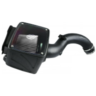 S&B FILTERS 75-5102D COLD AIR INTAKE FOR 04-05 CHEVROLET SILVERADO GMC SIERRA V8-6.6L LLY DURAMAX DRY EXTENDABLE WHITE