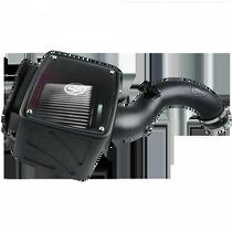 S&B FILTERS 75-5101D COLD AIR INTAKE FOR 01-04 CHEVROLET SILVERADO GMC SIERRA V8-6.6L LB7 DURAMAX DRY EXTENDABLE WHITE