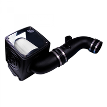 S&B FILTERS 75-5075-1D COLD AIR INTAKE FOR 11-16 CHEVROLET SILVERADO GMC SIERRA V8-6.6L LML DURAMAX DRY EXTENDABLE WHITE