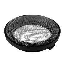 S&B FILTERS 77-3002 Turbo Screen 6.0 Inch Black Stainless Steel Mesh W/Stainless Steel Clamp
