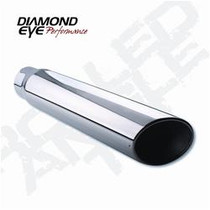 DIAMOND EYE MANUFACTURING 5618BAC Exhaust Tail Pipe Tip  TIP; BOLT-ON ANGLE CUT; 5in. ID X 6in. OD X 18in. LONG;