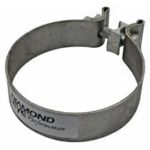 DIAMOND EYE MANUFACTURING BC500S304 Exhaust Clamp  PERFORMANCE DIESEL EXHAUST PART-5in. 304 STAINLESS STEEL TORCA BAND CLAMP