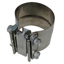 DIAMOND EYE MANUFACTURING L40SA Exhaust Clamp  PERFORMANCE DIESEL EXHAUST PART-4in. 409 STAINLESS STEEL TORCA LAP-JOINT CLAMP