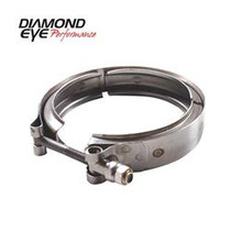 DIAMOND EYE MANUFACTURING VC375CHV65 V-BAND CLAMP  FOR CHEVY 6.5L TURBO;  STAINLESS STEEL