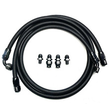 FULL SEND DIESEL FSD-12-B 2007.5-2009 DODGE CUMMINS STOCK TRANSMISSION LINE KIT BLACK BRAIDED