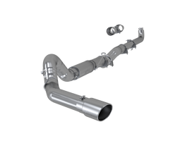 MBRP S60200AL 5 INCH EXHAUST PIPE SINGLE SIDE TIP INCLUDED ALUMINIZED STEEL 2001-2007 CHEVROLET/GMC 2500/3500 DURAMAX CLASSIC EC/CC