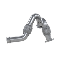 MBRP FAL2313 TURBO EXHAUST UP-PIPE DUAL FOR 03-07 FORD 6.0L POWERSTROKE ALUMINIZED STEEL CARB EO NUM. D-763-3 FOR 03-07 FORD 6.0L POWERSTROKE